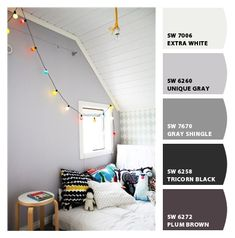 Paint colors from Chip It! by Sherwin-Williams;   Unique Gray