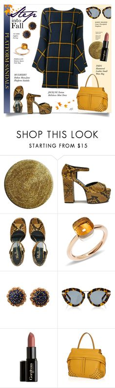 """Untitled #1096"" by louise-stuart ❤ liked on Polyvore featuring Nails Inc., Mulberry, Pomellato, Karen Walker and Tod's"