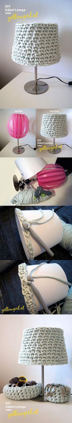 Original lámpara de crochet
