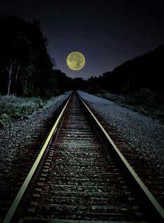 Moon tracks New York State