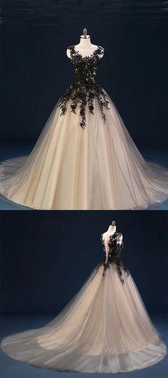 O-Neck Appliques A-Line Prom Dresses,Long Prom Dresses,Cheap Prom Dresses, Evening Dress Prom Gowns, Formal Women Dress,Prom Dress #promshoesvintage