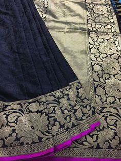 A beautiful handwoven tanchoi saree with a tanzeb border - weaverstory.com