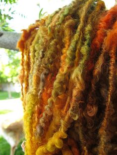 2 ply handspun and hand dyed leicester wool yarn @Camaj Handspun Yarns