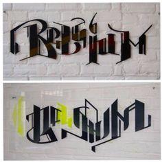 Typograffie #Belgium expo #sprayculoos #graffooti #typo #typography acrylique sur plexi Mural Painting, Paintings, Expo, Letters, Words, Decor, Atelier, Decoration, Paint