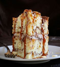 Caramel Apple Cinnamon Cake | i am baker | Bloglovin'