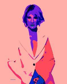Original Celebrity Painting by Acqua Luna Art Pop, Cate Blanchett, Original Artwork, Original Paintings, Ballet Dancers, Saatchi Art, Illustration Art, Canvas, Caricatures