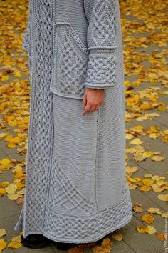 """Верхняя одежда ручной работы. Длинное вязаное пальто""""Арвен"""". Barsukova Olga - author's knitting. Ярмарка Мастеров. Верхняя вязаная одежда"""