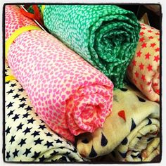 BeckSondergaard Scarves: Bright, cheery and made in Denmark. #blissboutiques