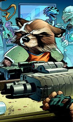 Rocket Raccoon by Tom Fowler