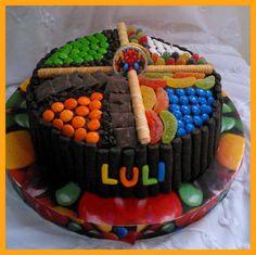 La torta de golosinas para Luli