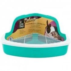 Rabbit Litter Box / Hay Feeder - 1 Free Chew/Toss Toy Included ...