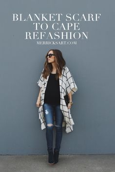 Merrick's Art // Style + Sewing for the Everyday Girl: EASY CAPE REFASHION TUTORIAL