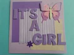 Congratulations Baby Girl/ Girl Baby Shower Card by Adsforyou, $4.00