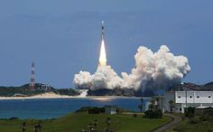 Japan's H-IIA rocket lifts off from the space centre on the southern island of Tanegashima on May 24, 2014. Japan successfully launched a new mapping satellite on May 24 that will be used to survey damage from natural disasters and changes affecting rain forests.
