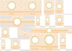 Arabescos Color Peach: Free Print Kit.