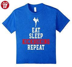 Kids Eat and Sleep Kickboxing Repeat Funny Shirt Gift 10 Royal Blue (*Amazon Partner-Link)