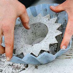 Como fazer vasos de cimento, dica para o final de semana
