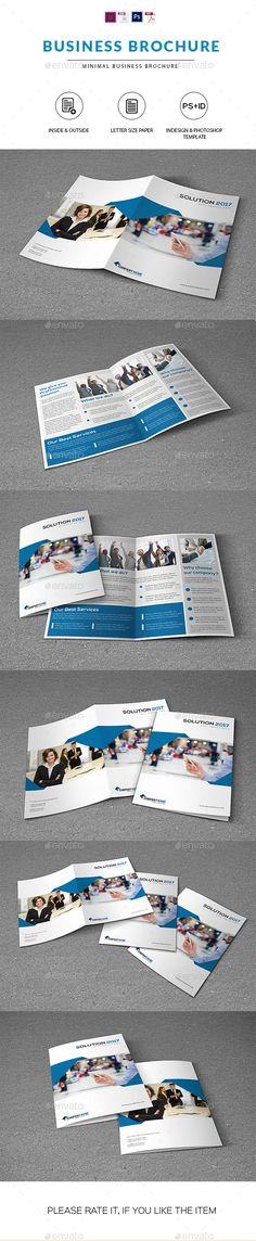 Clean Business Brochure #Template - Corporate #Brochures Download here: https://graphicriver.net/item/clean-business-brochure-template/18429082?ref=alena994