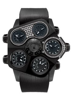 Jacob & Co.'s Grand Baguette Collection Timepiece with Diamonds.