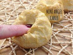 Le mini angel cakes sono delle tortine sofficissime come nuvole, bastano pochissimi albumi per una merenda sana e leggera :)