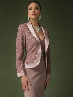 Long elegant mother of the bride dress and matching jacket