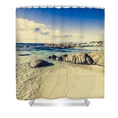 Vintage Shower Curtain featuring the photograph Vintage Beach Background by Ryan Jorgensen