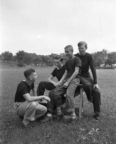 Youth Baseball Players | Photograph | Wisconsin Historical Society