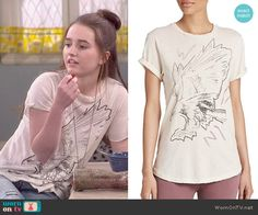 Eve's eagle graphic tee on Last Man Standing.  Outfit Details: http://wornontv.net/53466/ #LastManStanding