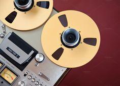 Open Reel Stereo Tape Deck by Viktorus on Creative Market