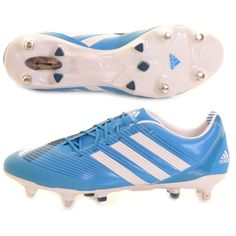 buy online 448ea 929d9 Adidas Predator Incurza AXT Rugby Boot Blue and White - £170 at  ShopRugby.com