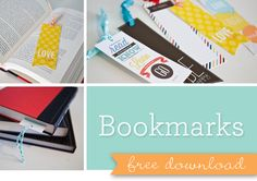 Free printable bookmarks!