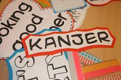 bordjes voor de fotoshoot ouder-kind activiteit 'Samen Happy'