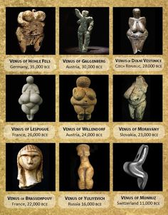 """Venuses, or Astarte Interesting, the oldest known sculptures all seem to be women of substance. What does that say about the fence post considered """"models"""" today? Models for who?"""