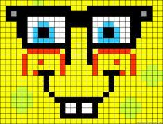 SpongeBob perler bead pattern