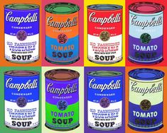 students learned about Pop artist, Andy Warhol, and painted his famous Campbell's soup cans. We talked about how Pop art was insp. Andy Warhol Pop Art, Andy Warhol Soup Cans, Keith Haring, Famous Pop Art, Richard Hamilton, Warhol Paintings, Campbell's Soup Cans, Ingo Maurer, Pop Art Movement