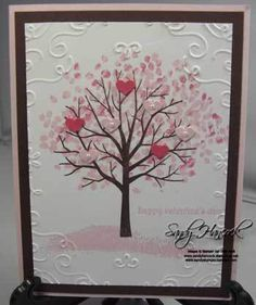 Sheltering Tree by Sandy Hancock, This will be a great Valentine. Check out the little pearls in a close up on my blog. www.sandystamper.com Stampin' Up!