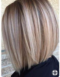 Long dark blonde bob