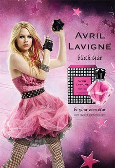 Avril Lavigne Perfume Black Star★ in pink bottle. Worst Celebrities, Celebs, Avril Lavigne Pictures, Perfume Adverts, Avril Lavingne, Catty Noir, Celebrity Perfume, Pink Bottle, Black Star