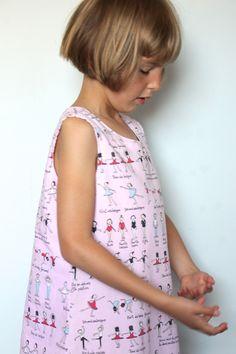 Upcycled Ballerina Fabric Pinafore Dress