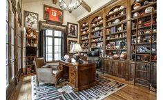 A room for all his sports memorabilia
