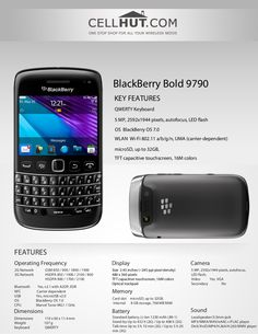 by Cellhut via Slideshare Product Brochure, Blackberry Bold, Wifi, Electronics, Phone, Telephone, Mobile Phones, Consumer Electronics