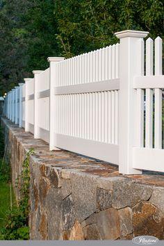 Gorgeous White PVC Vinyl Picket Fence from Illusions Vinyl Fence. #homedecor