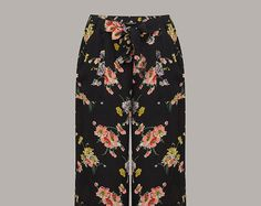 40's Inspired 'Winnie' Trousers in Mayflower print by The Seamstress of Bloomsbury