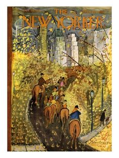 The New Yorker cover by Ludwig Bemelmans.
