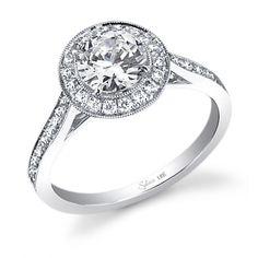 Enlarge Platinum diamond engagement ring - #SY310