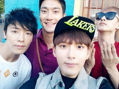 Ryeo Wook Tweets a Pic with Siwon, Donghae and Eunhyuk in Argentina