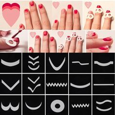 15 Style/Set French Manicure Nail Art Tips Form Guide Sticker Polish DIY Stencil #UnbrandedGenenic