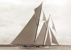 Gaff rigged schooner. Could make a fantastic start to a tattoo.