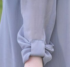 papavero pattern - rolled and tucked bow sleeve