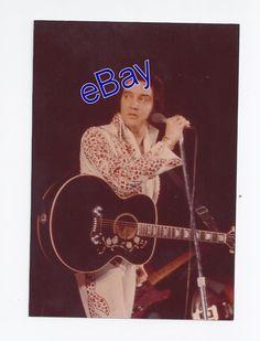Original Elvis Presley Kodak Concert Photo - Turn Around 1974 - Jim Curtin Rare!